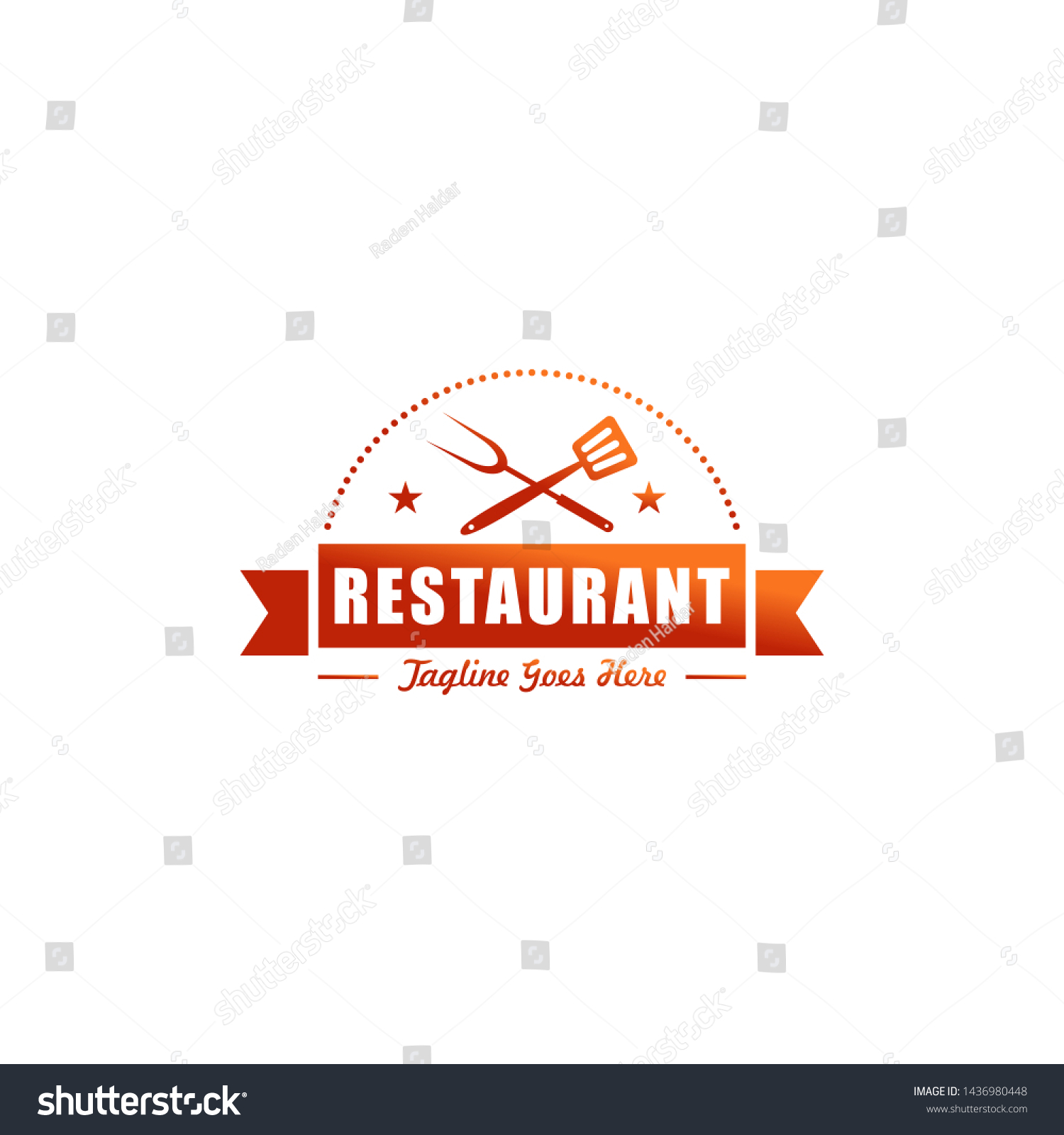 Vector De Stock Libre De Regalias Sobre Restaurant Resto Cafe Food Court Logo1436980448