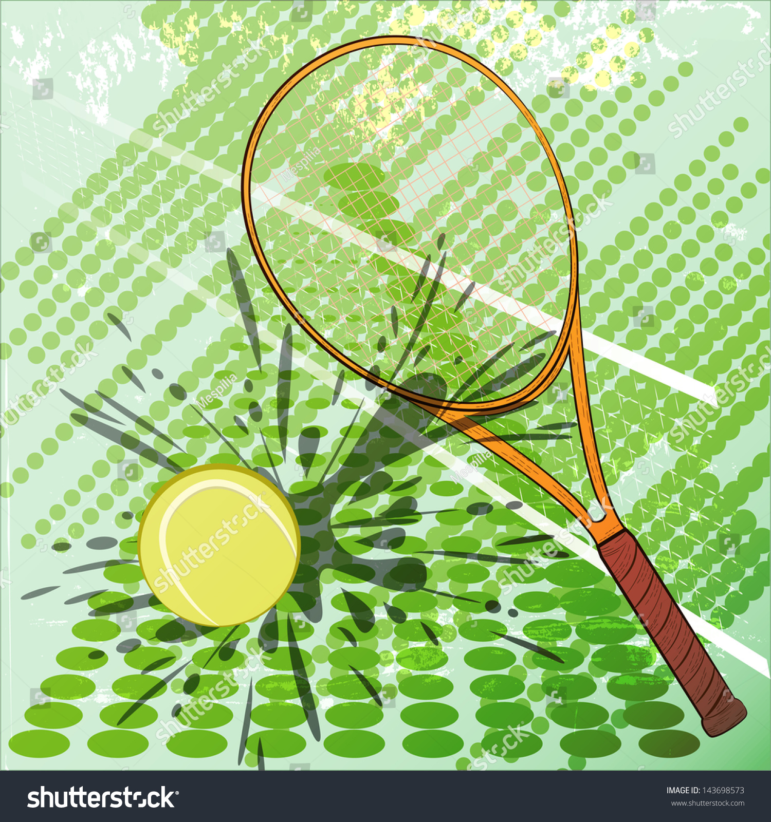 Tennis Card Vector Illustration Can Be Stock Vector 143698573