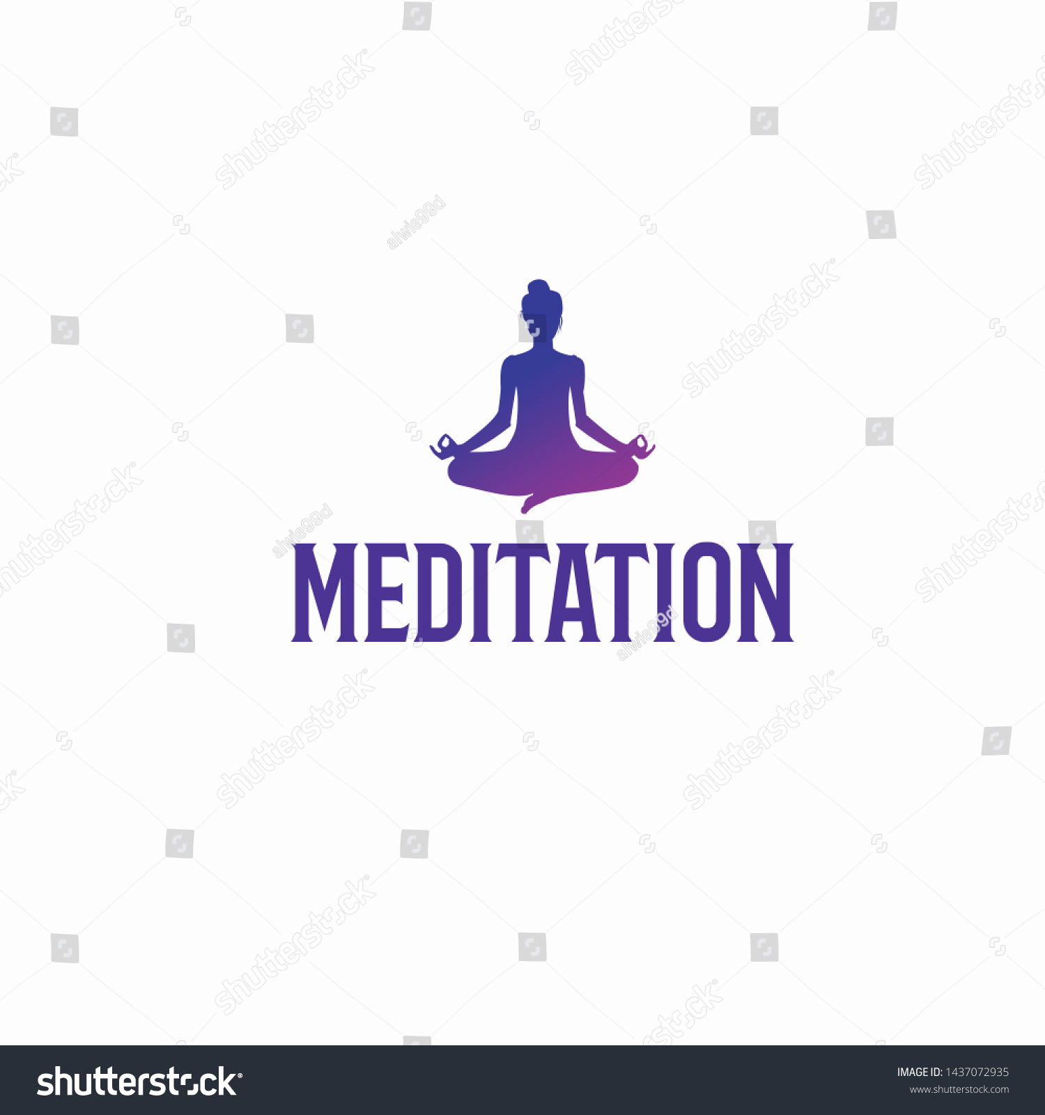 meditation exclusive logo design inspiration stock vector royalty free 1437072935 shutterstock