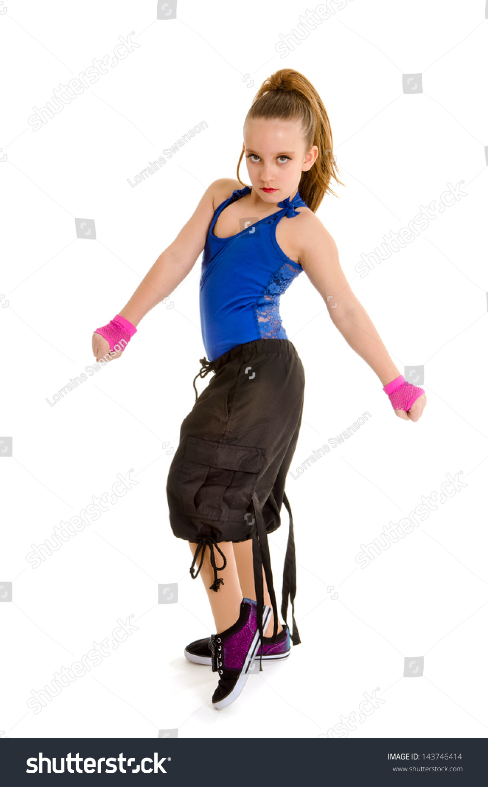 Fierce Young Girl Poses Hip Hop Stock Photo 143746414 -5443
