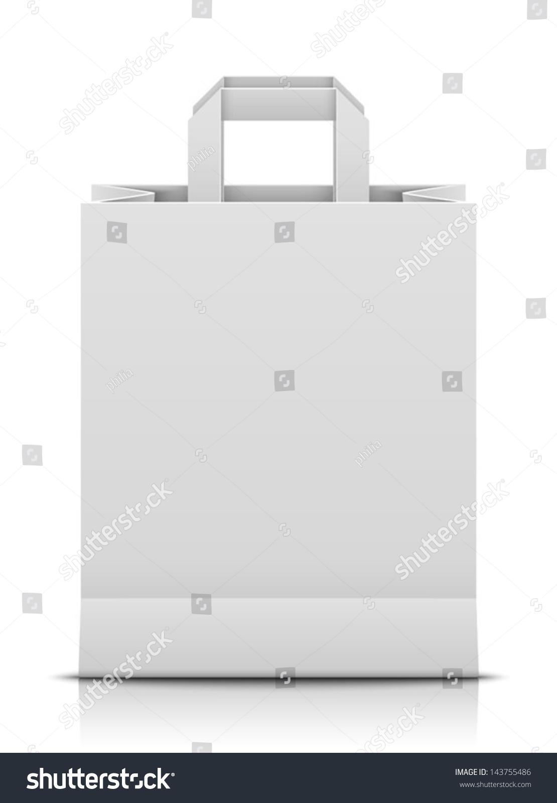 Paper bag vector - White Paper Bag
