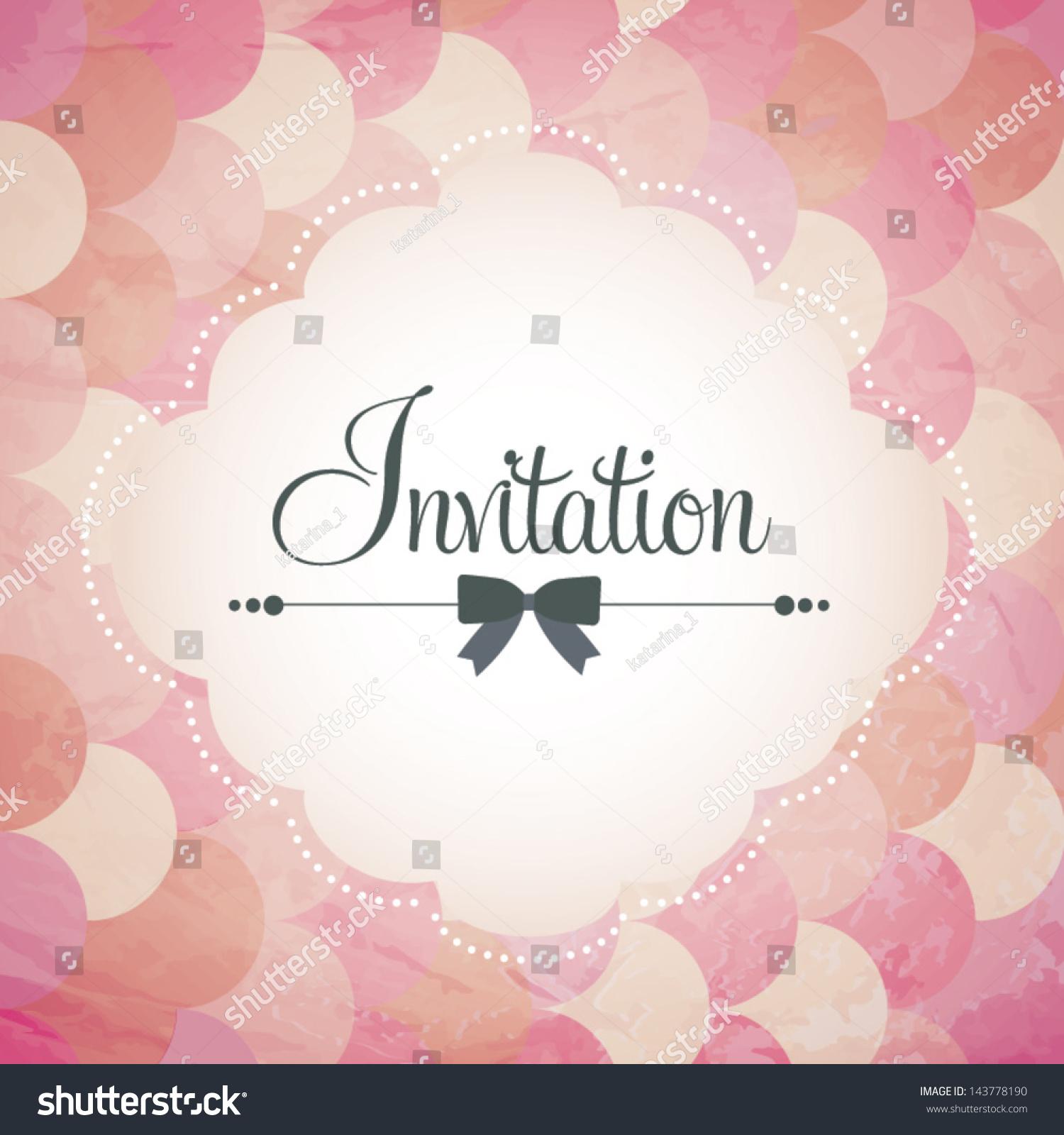 Vector Illustration Wedding Invitation Card Seamless Stock Vector ...