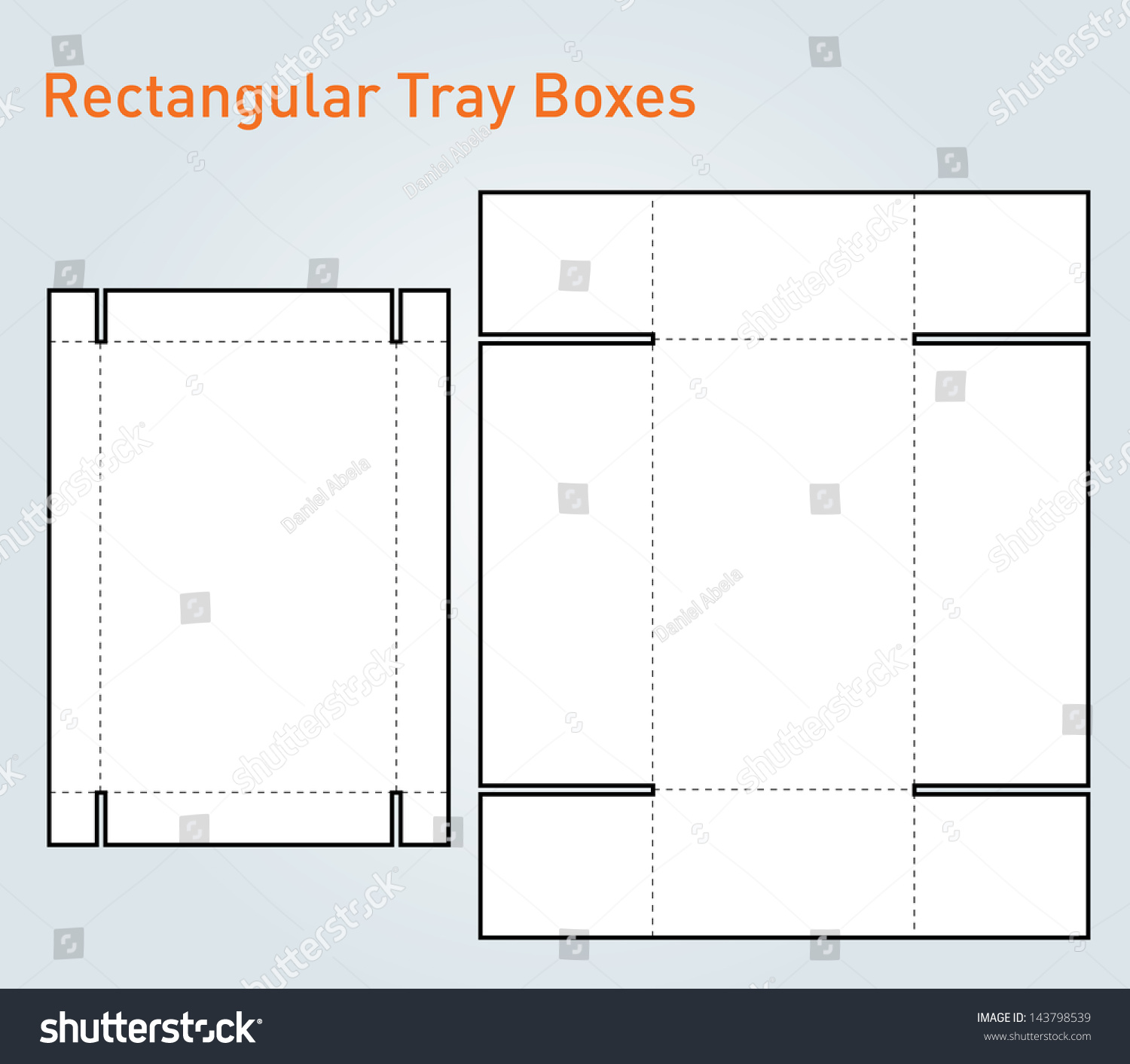 Packaging tray box template vector stock vector 143798539 shutterstock for Box templates vector