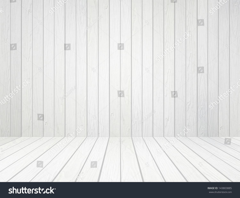 Room Interior White Wood Wall Floor Imagen De Archivo ...
