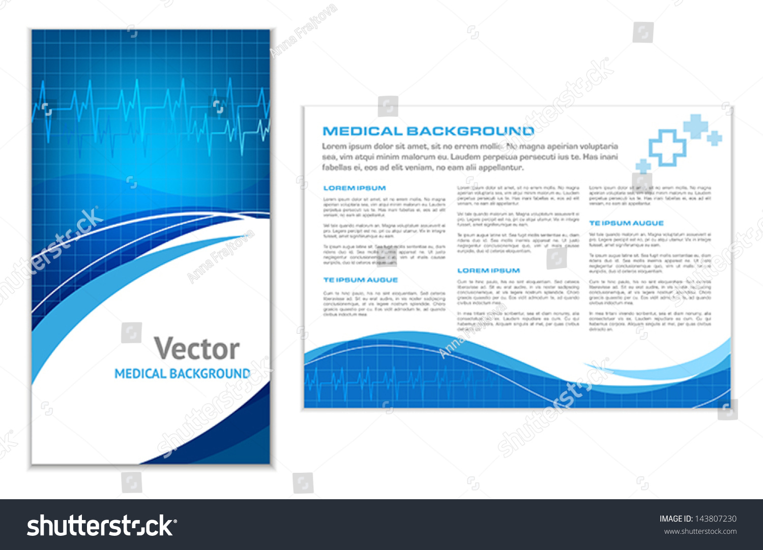 Abstract Medical Background Flyer Template Stock Vector