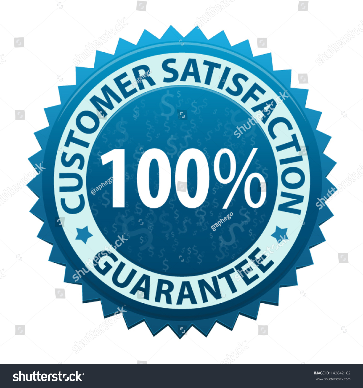 Label text customer satisfaction guarantee 100 stock vector label with text customer satisfaction guarantee 100 percent icon or symbol isolated on white background buycottarizona Image collections