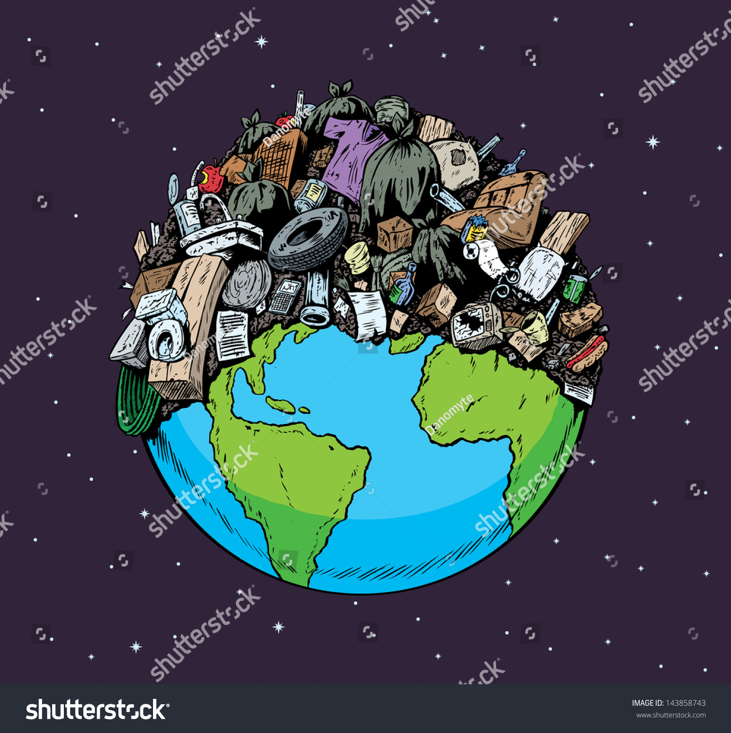 Polluted Planet Stock Illustration 143858743 - Shutterstock