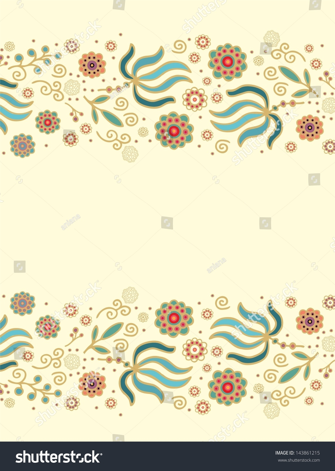 shutterstock floral borders pictures to pin on pinterest floral border vector image floral border vector download