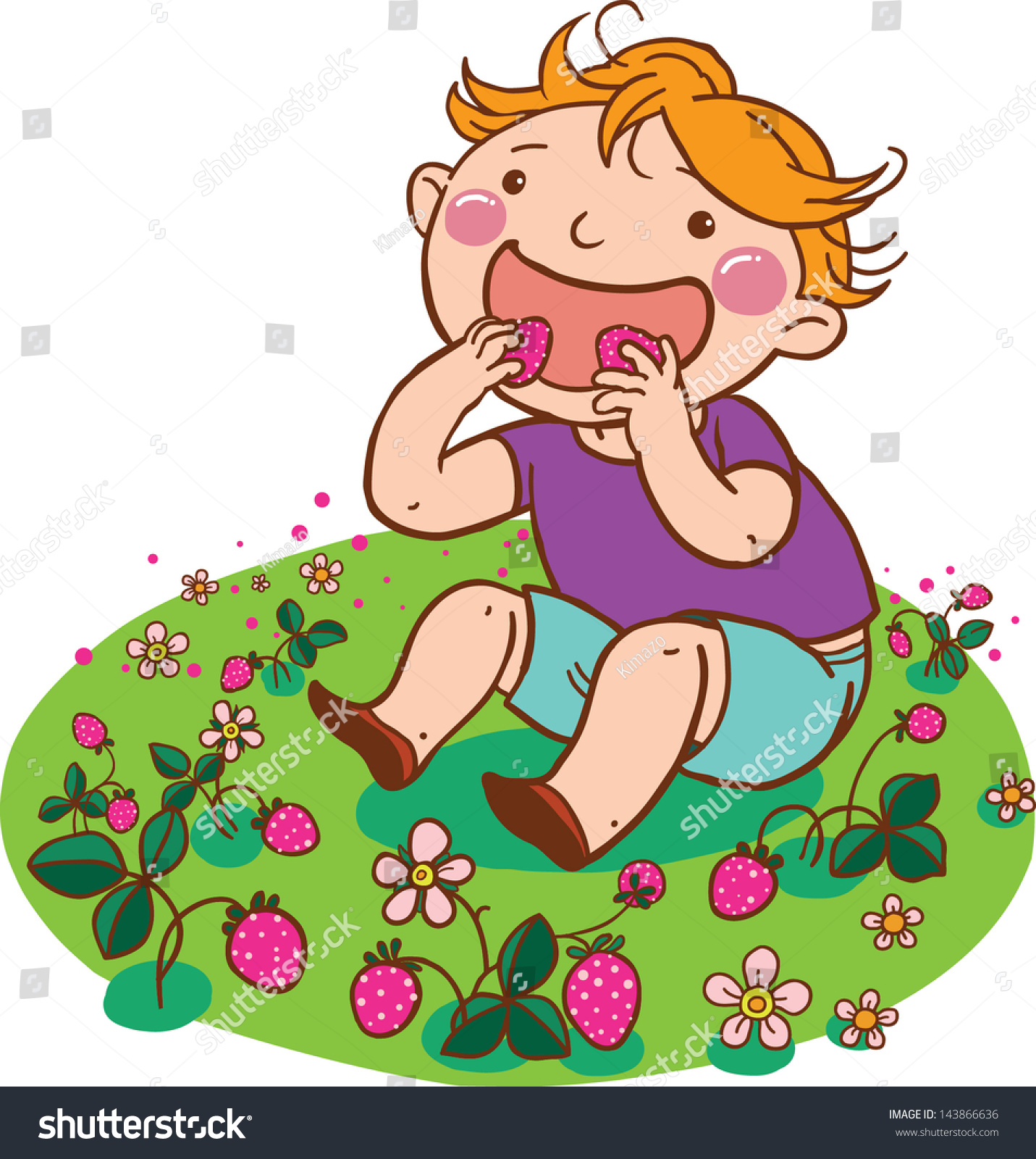 Clipart Illustration of a Boy And Girl Picking Out