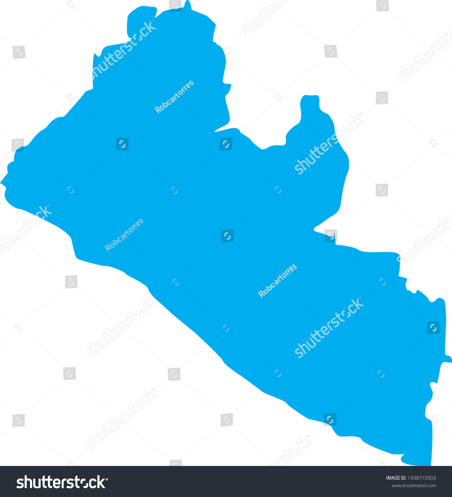 Picture of: Political Map Liberia Country Stock Vector Royalty Free 1438710503