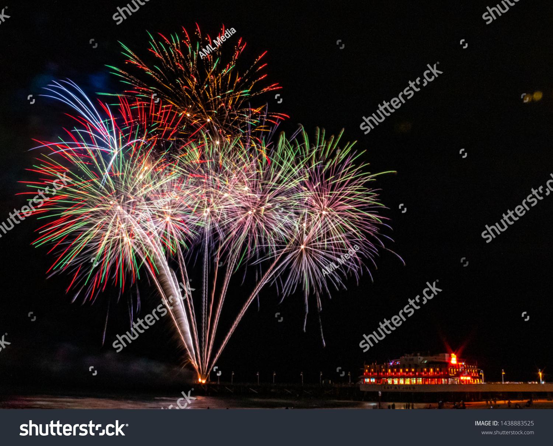 Fireworks Daytona Beach Pier Stock Photo Edit Now 1438883525