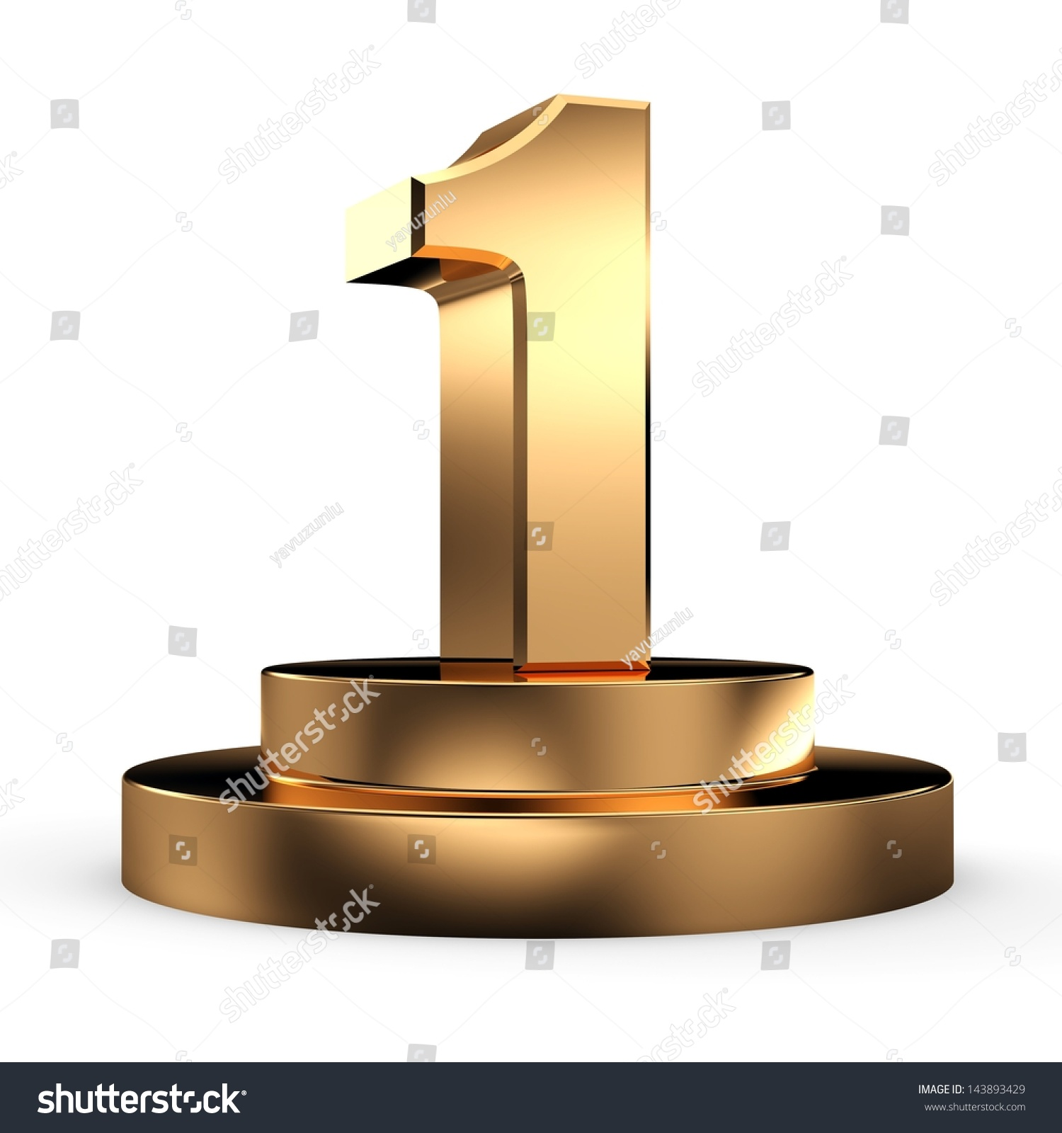 3d Gold Number 1 From My Number Collection Stock Photo 143893429   Shutterstock