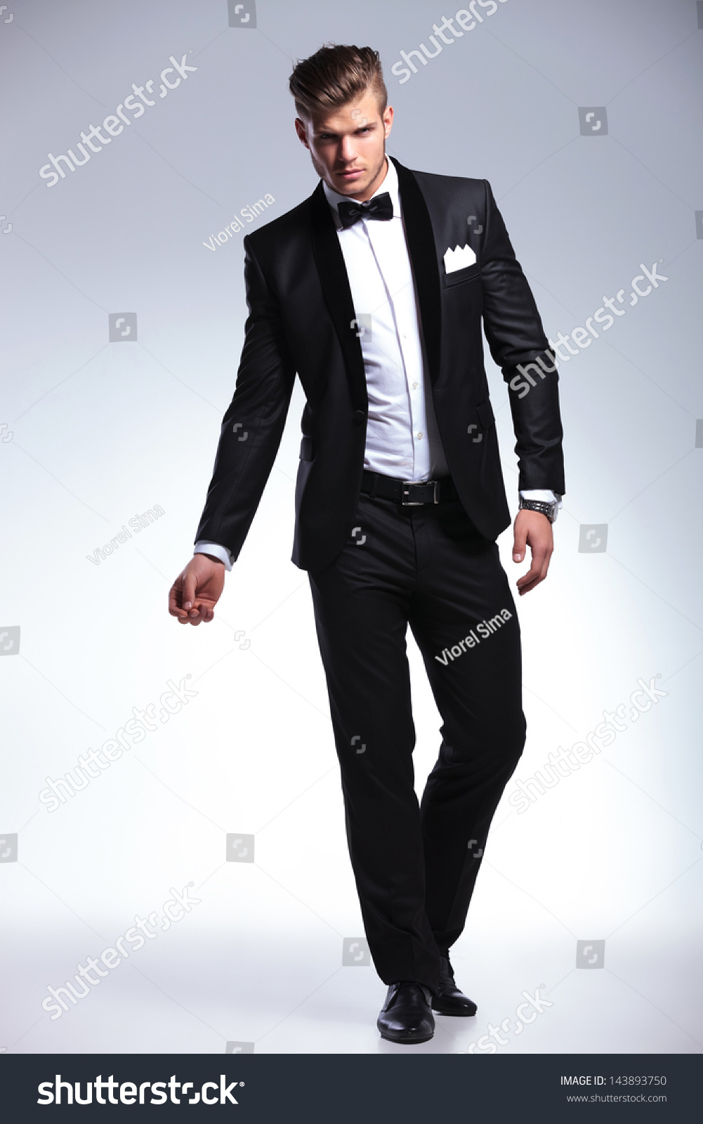 full length picture elegant young fashion stock photo
