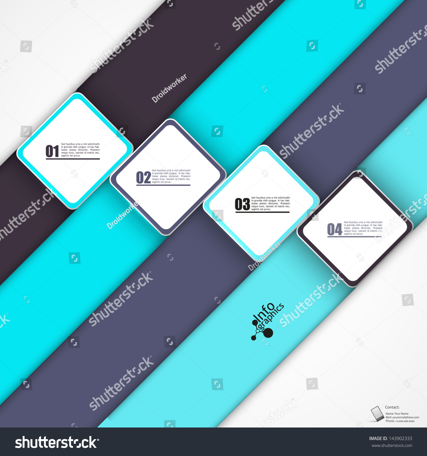 modern minimalistic design template can be stock vector 143902333