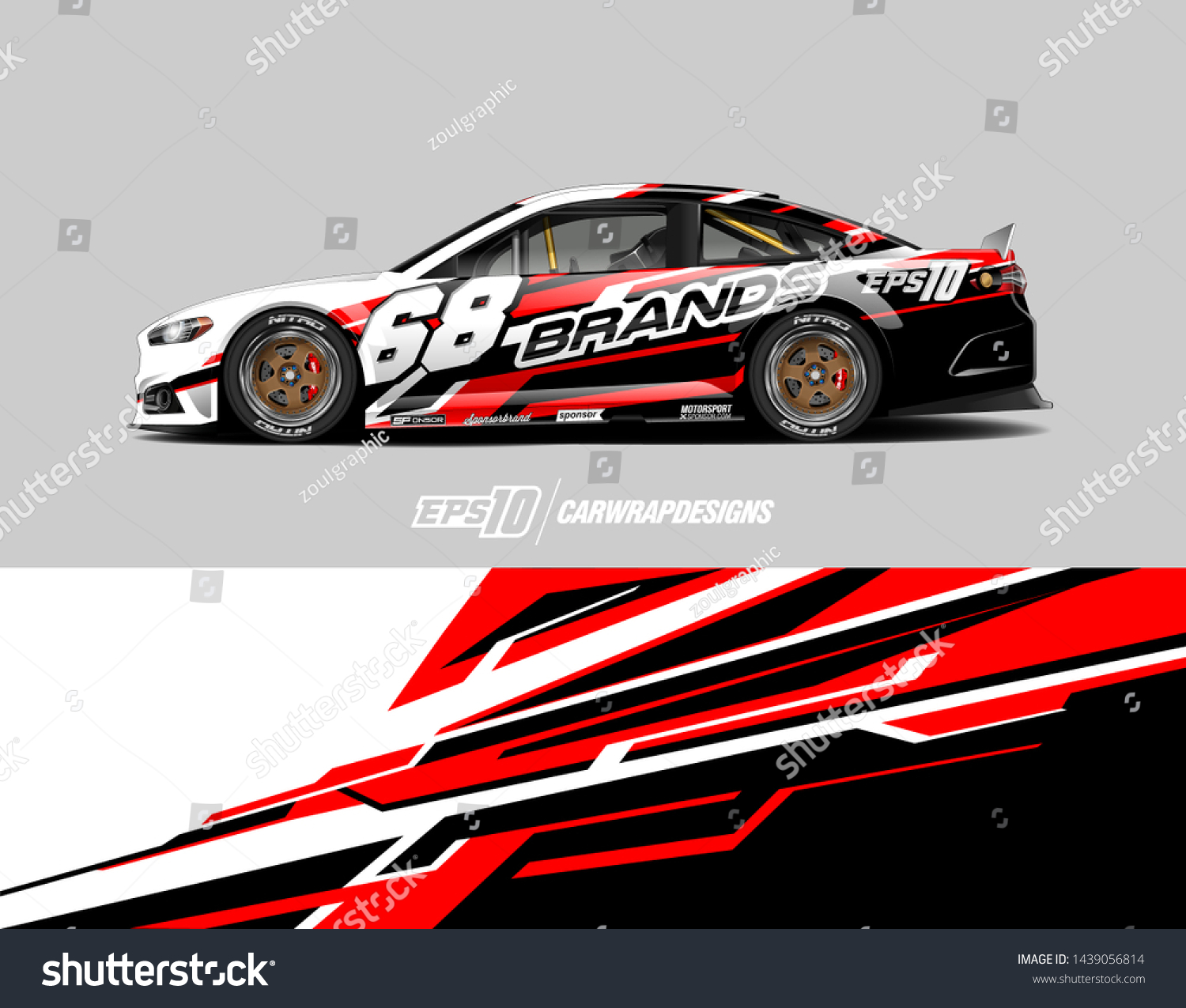 Car Graphic Design Concept Abstract Racing Stock Vector Royalty Free 1439056814