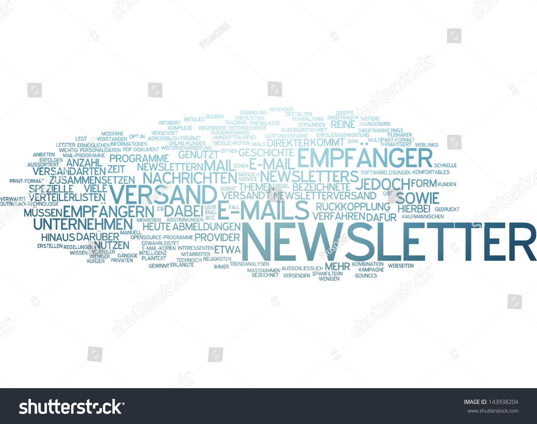 Word Cloud Newsletter Stock Illustration 143938204 - Shutterstock