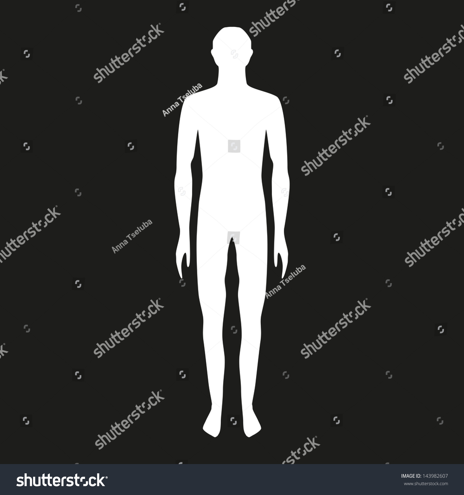 Male Body Shapes Human Body Outline Stock Vector (2018) 143982607 ...