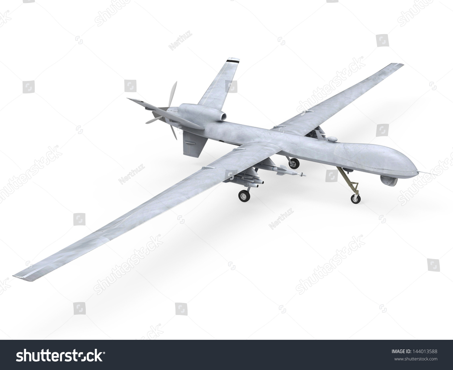 Military Predator Drone Stock Illustration 144013588