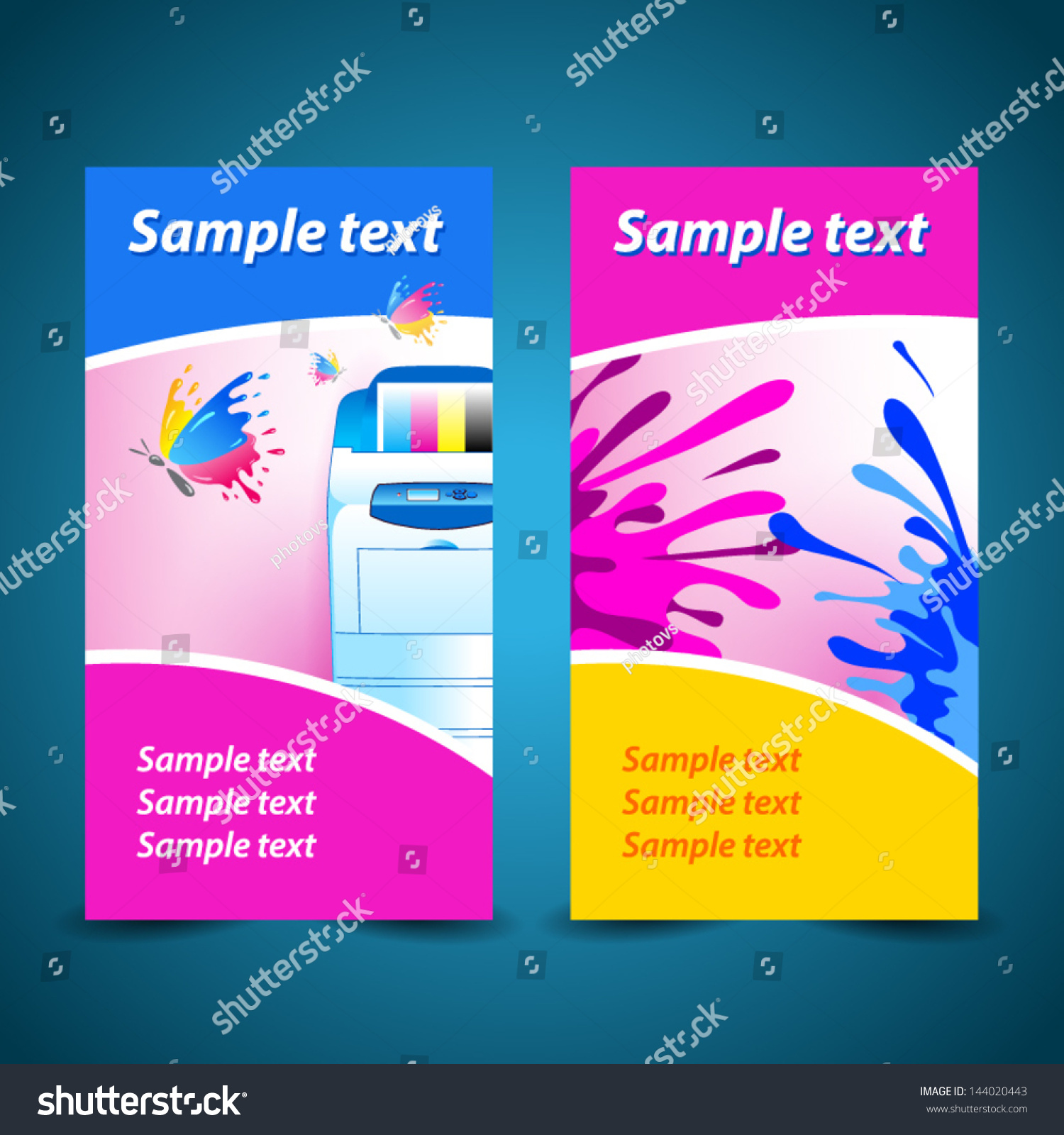 Banner Print Printer Background Abstract Blue Stock Vector ...