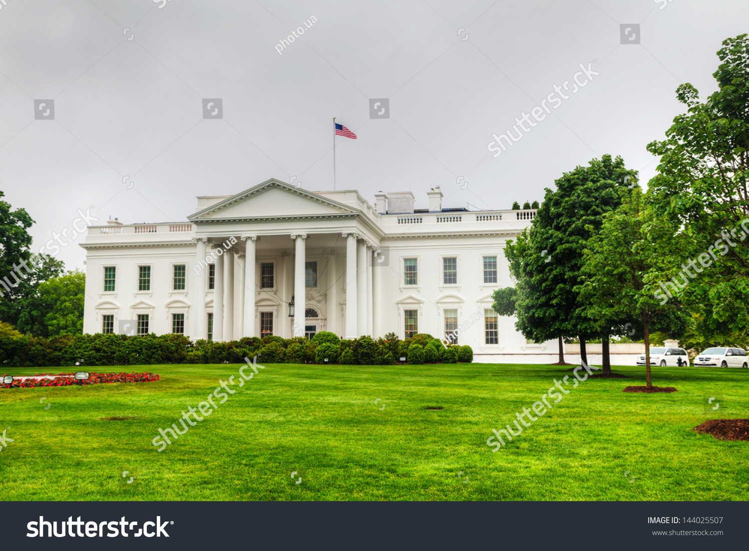 White house building washington dc morning stock photo for Building a house in washington state