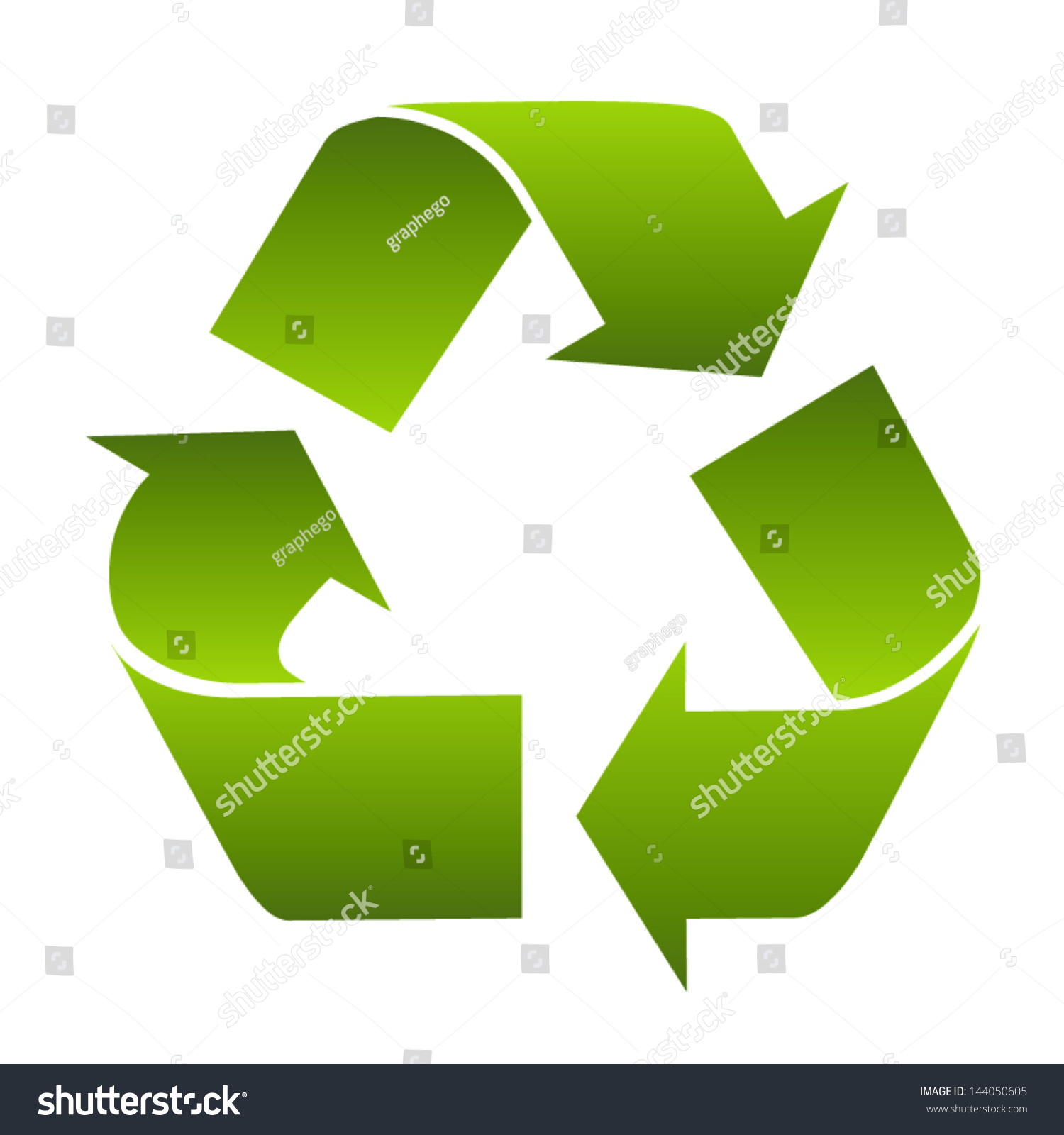 Recycle symbol sign conservation green icon stock vector 144050605 recycle symbol or sign of conservation green icon isolated on white background vector symbol on buycottarizona Images