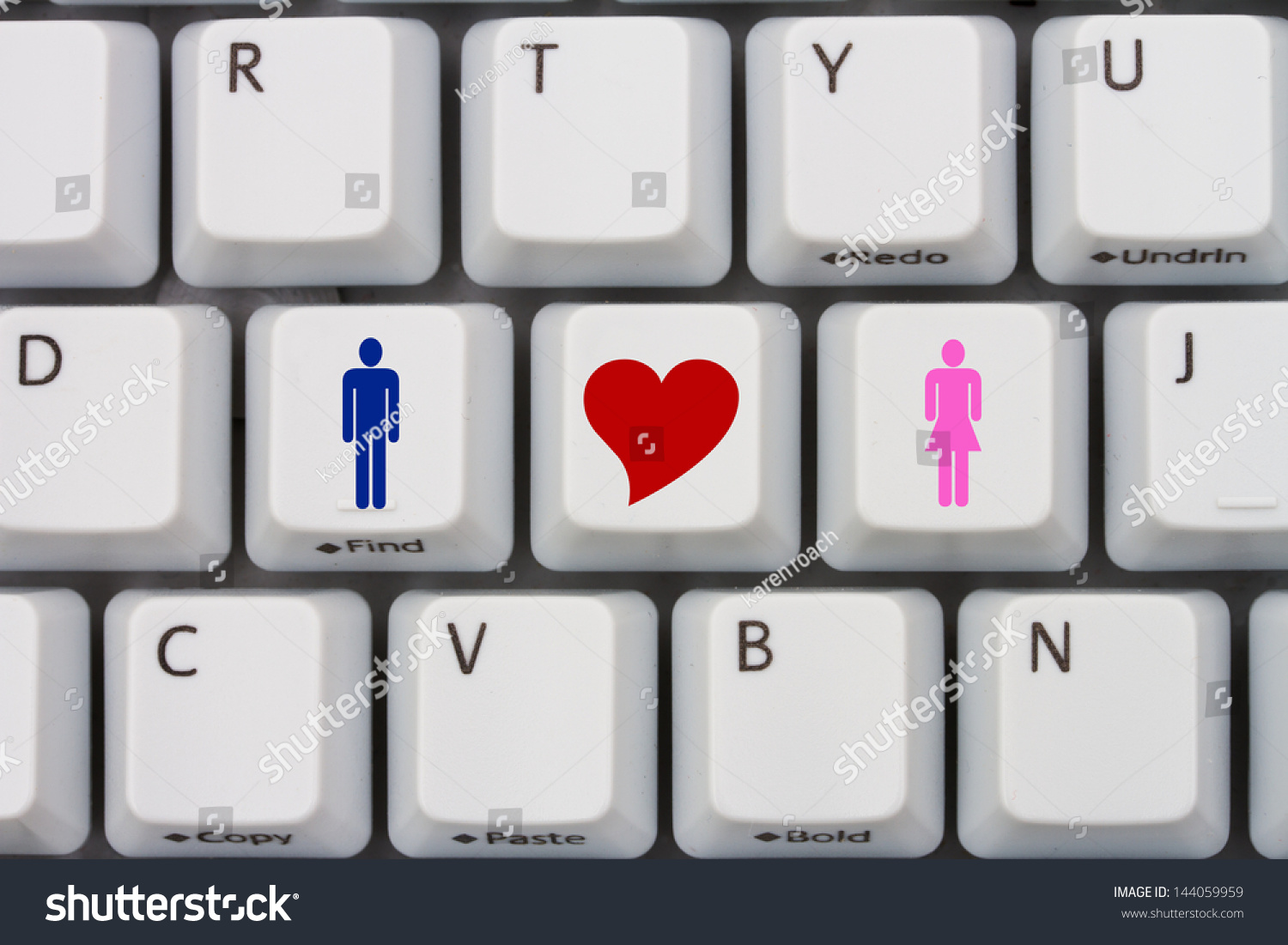 Computer keyboard keys symbols man woman stock photo 144059959 computer keyboard keys with symbols of man and woman and a heart internet dating buycottarizona Gallery