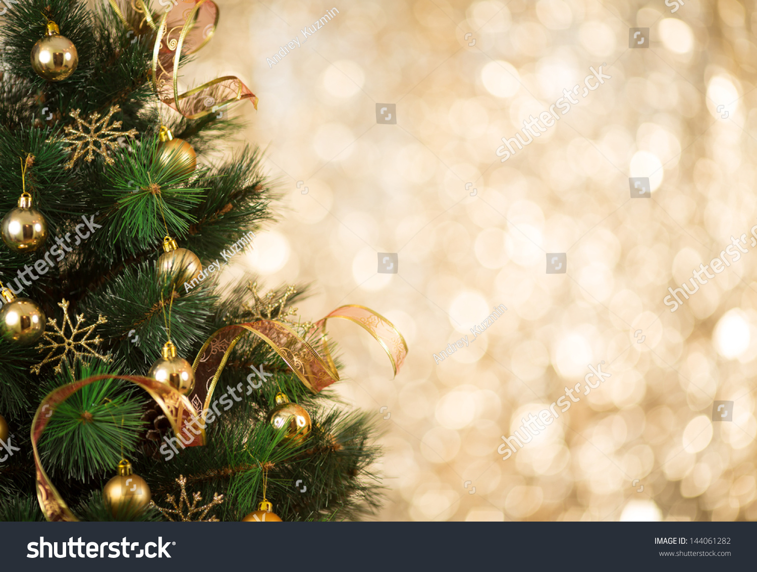 Free Illustration Background Christmas Red Gold: Gold Christmas Background Of De-Focused Lights With