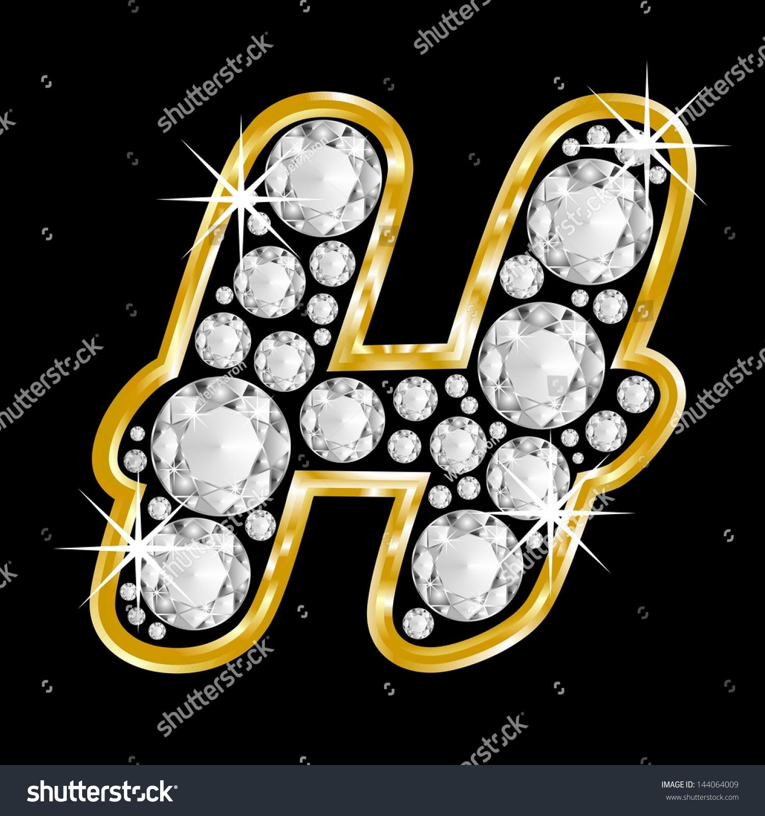 H Letter In Diamond The Letter H In Diamon...