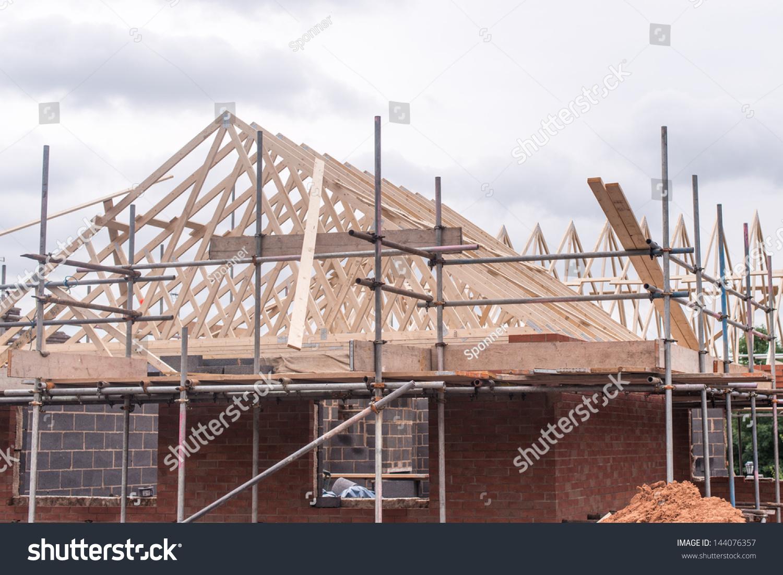 Roof Under Construction Stock Photo 144076357 Shutterstock