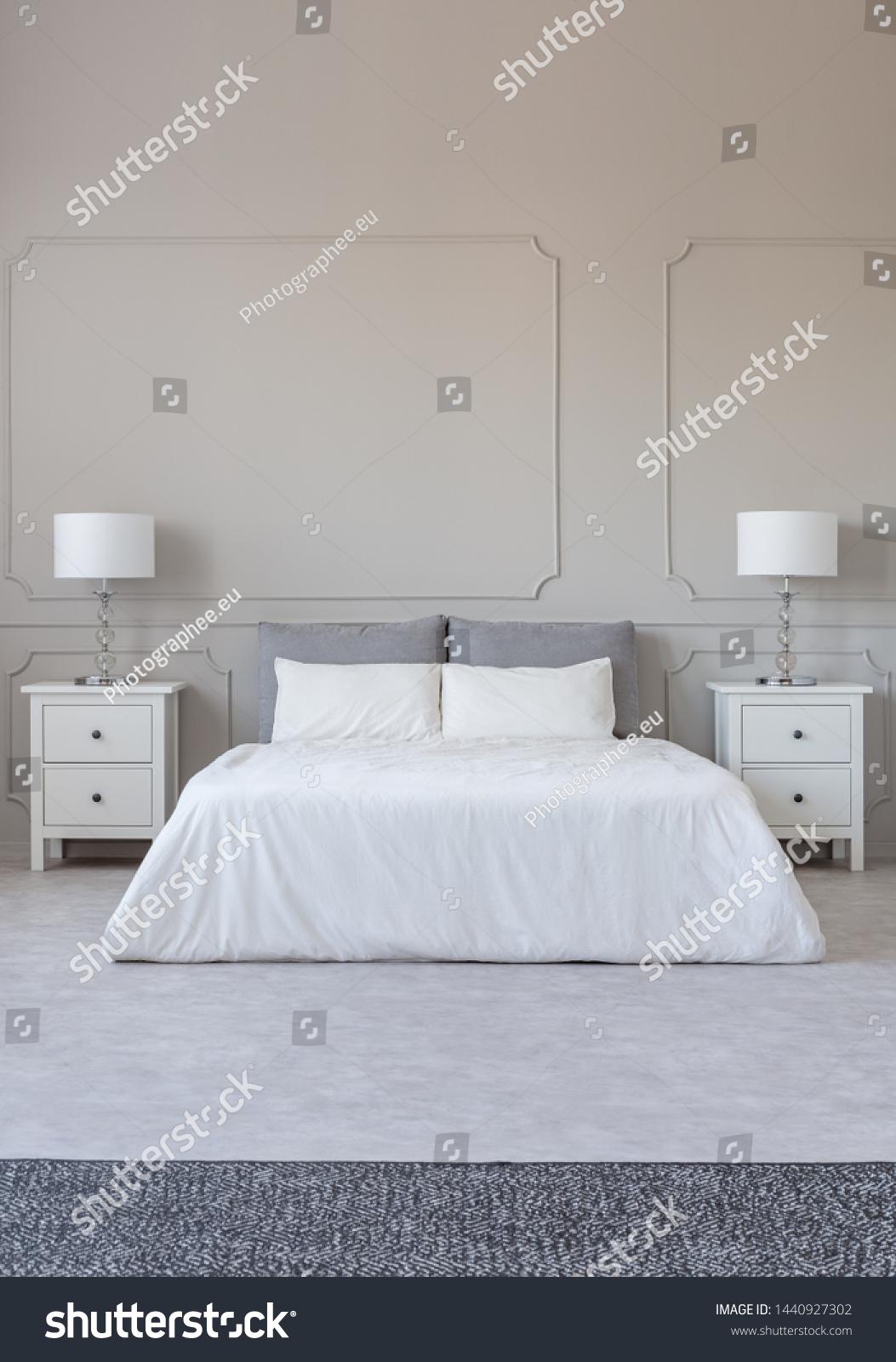 New York Style Bedroom Interior Symmetric | Royalty-Free ...