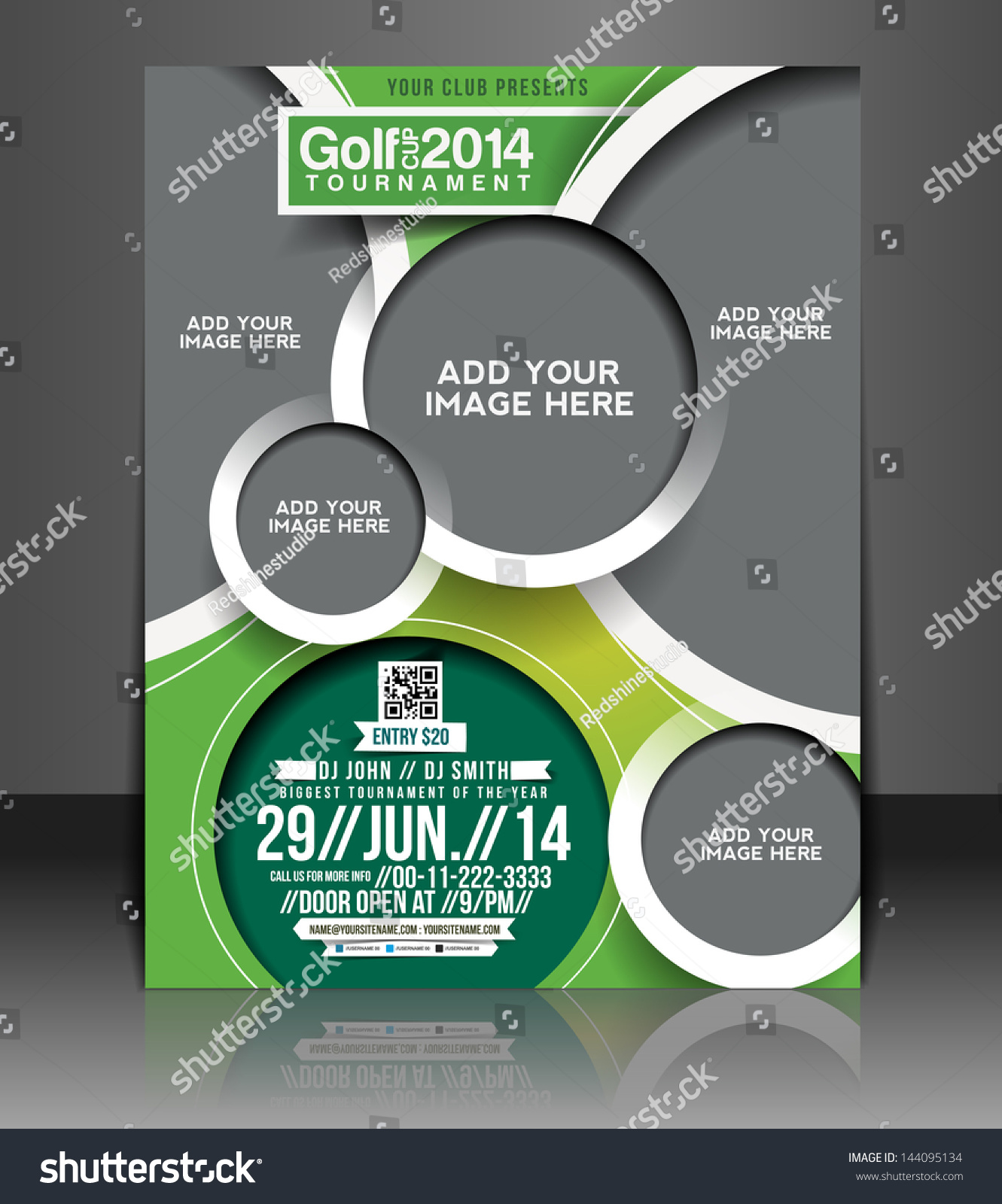 Vector Golf Tournament Brochure, Flyer, Magazine Cover U0026 Poster Template