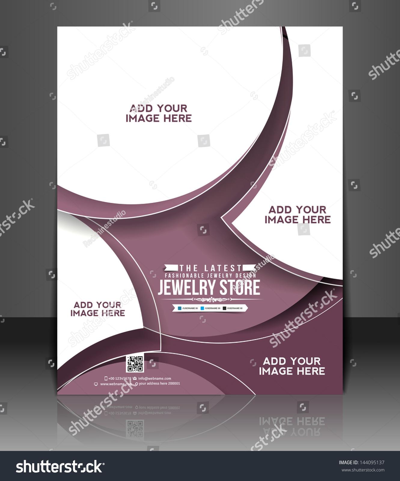 Vector Brochure Flyer Magazine: Vector Jewelry Store Brochure, Flyer, Magazine Cover
