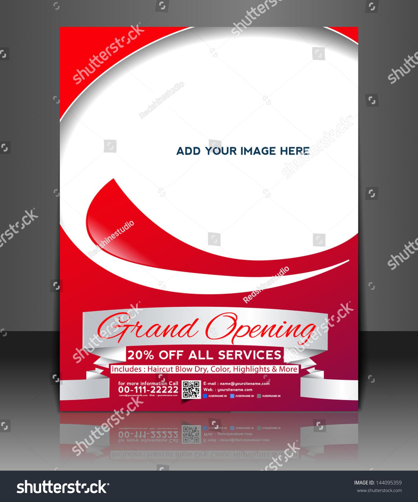 Vector Grand Opening Brochure Flyer Magazine Vector – Grand Opening Flyer Template