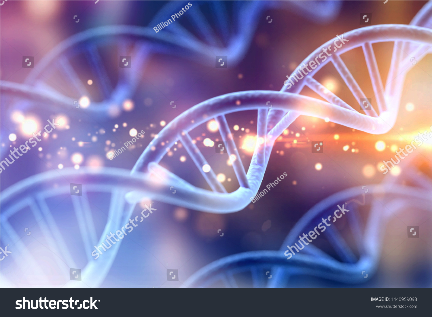 Science Biotechnology DNA illustration and abstract illustration #1440959093