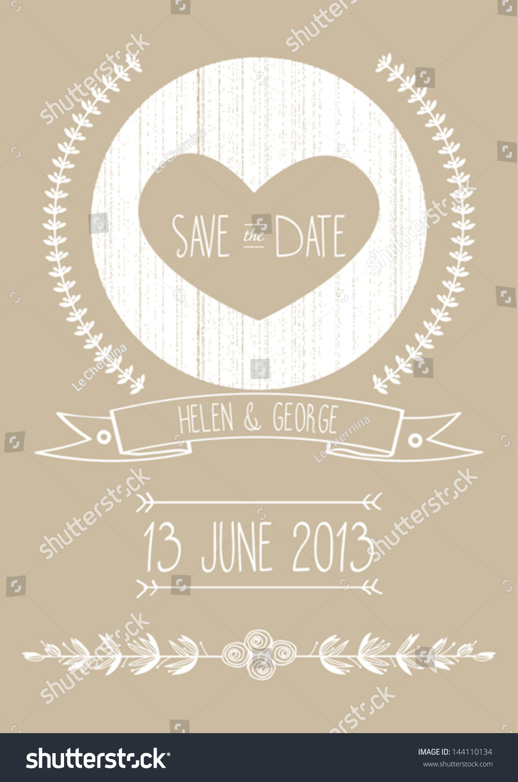 Save The Date Wedding Invitation Template Vector Illustration ...