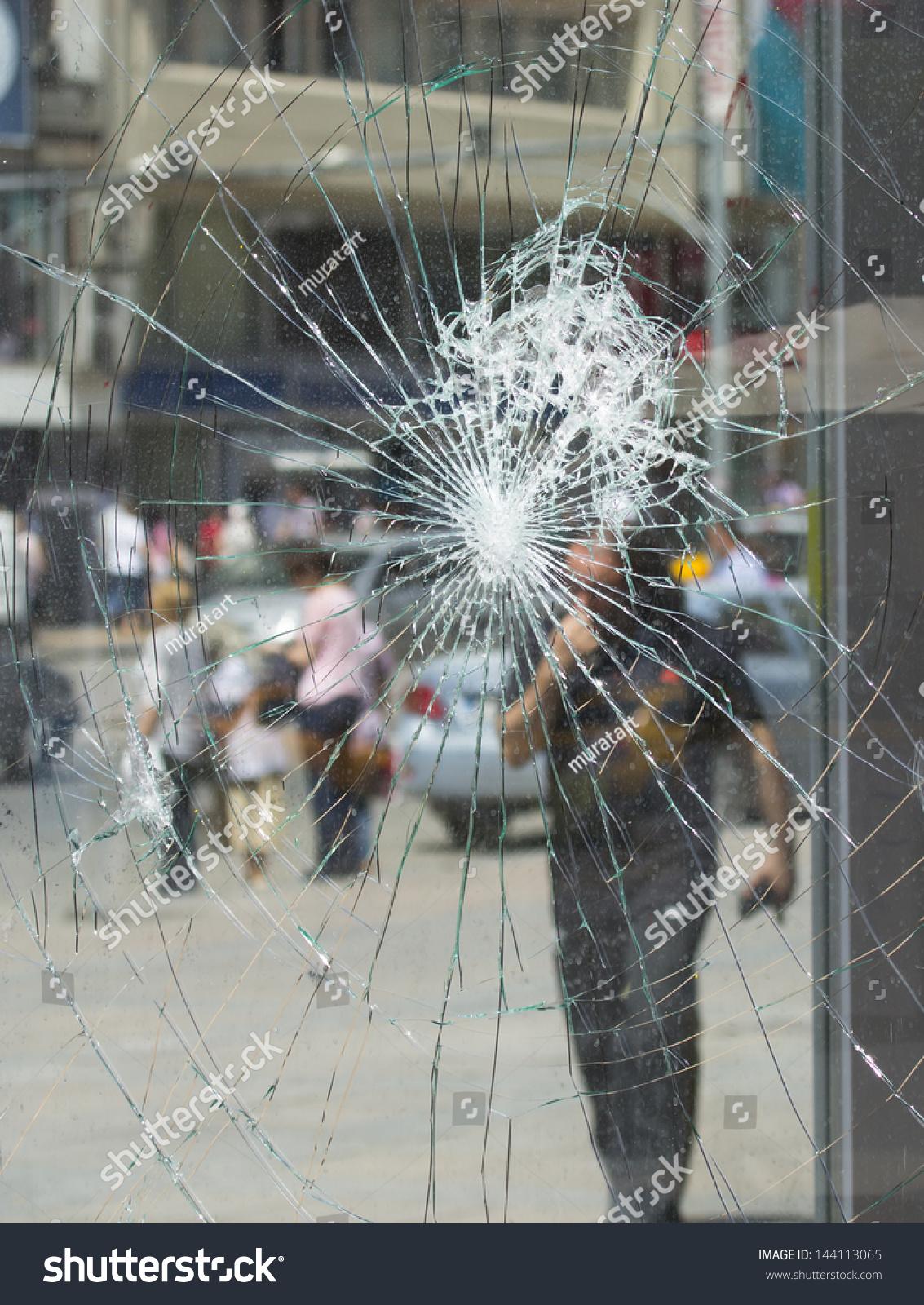 Broken House Window Glass Stock Photo 144113065 : Shutterstock - ^
