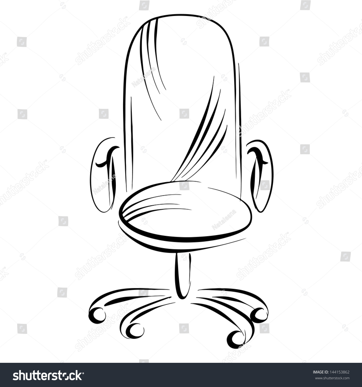 fice Chair Sketch Abstract Design Logo Stock Illustration
