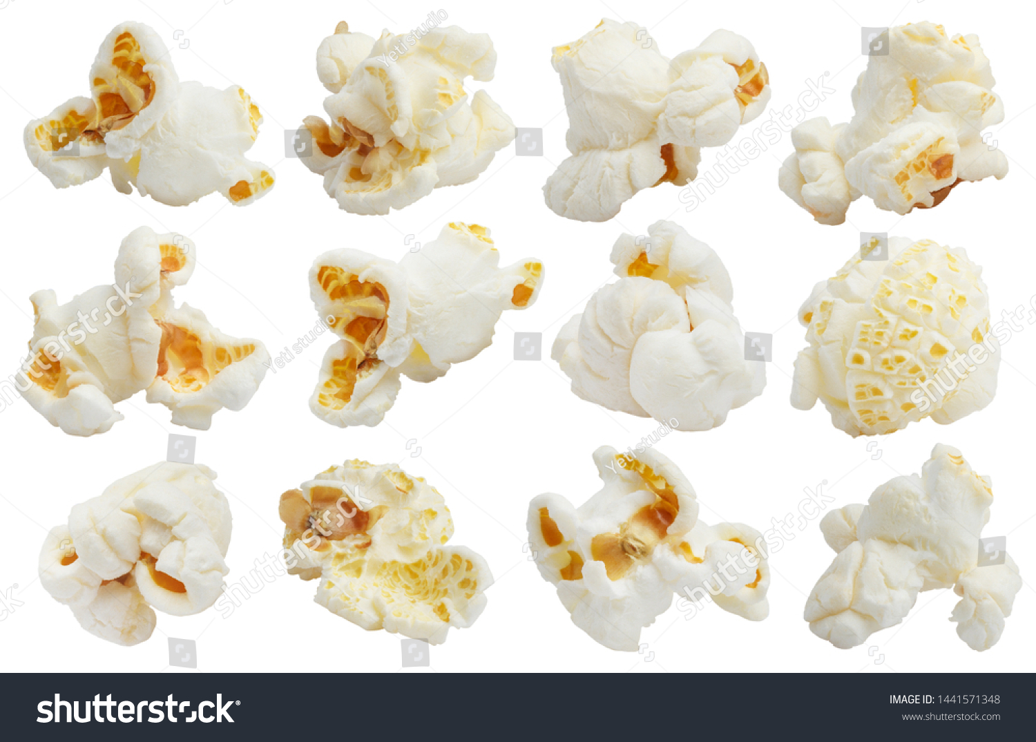 Rich collection of popcorn, isolated on white background #1441571348
