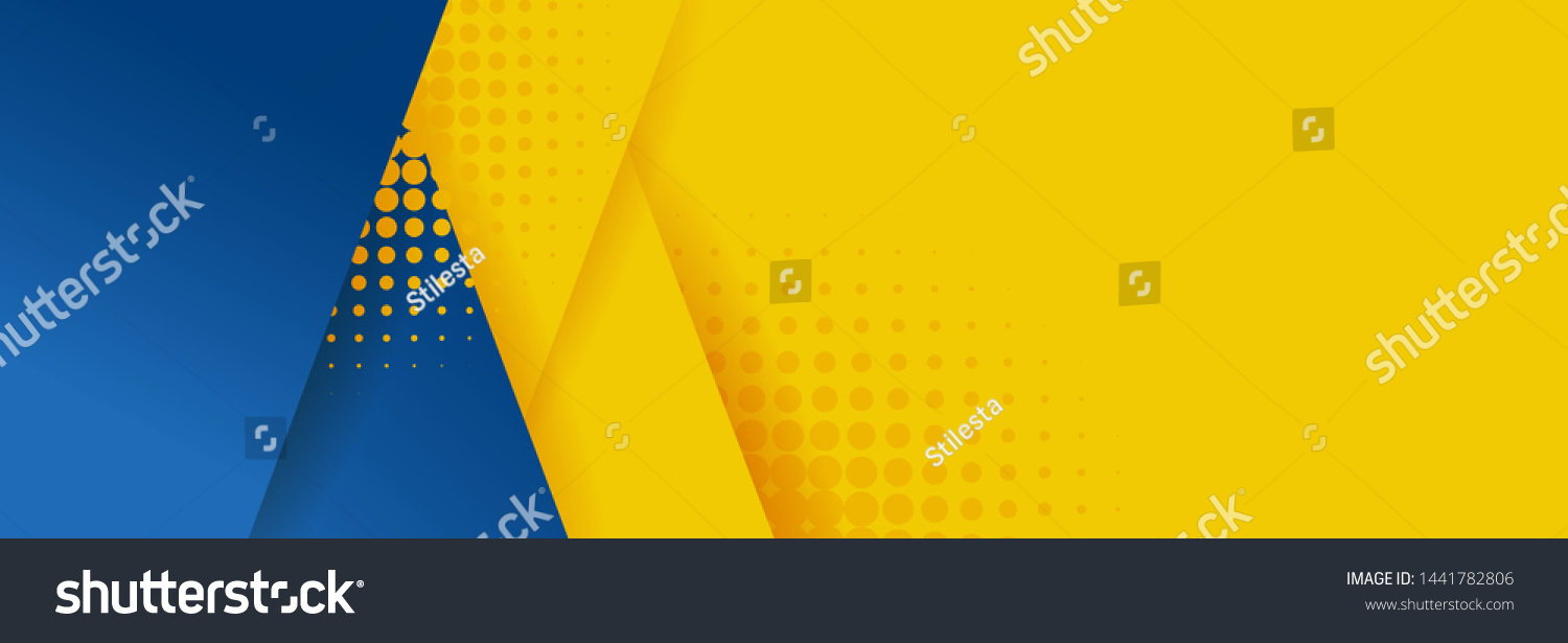 Abstract background modern hipster futuristic graphic. Yellow background with stripes. Vector abstract background texture design, bright poster, banner yellow and blue background Vector illustration. #1441782806