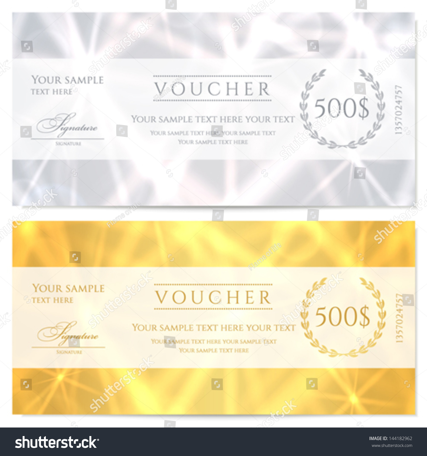 voucher gift certificate coupon template abstract pattern voucher gift certificate coupon template abstract pattern sparkling twinkling stars background design for invitation banknote cheque check