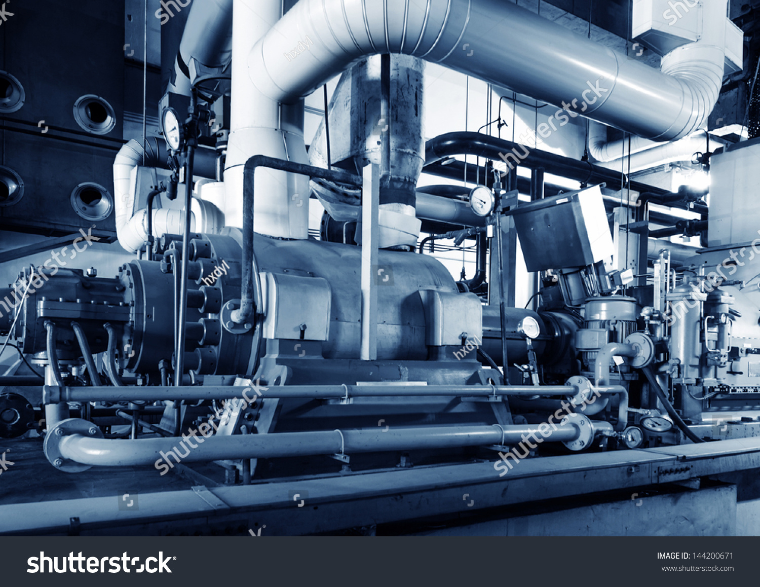 Modern Boiler Room Equipment Heating System Stock Photo (Edit Now ...
