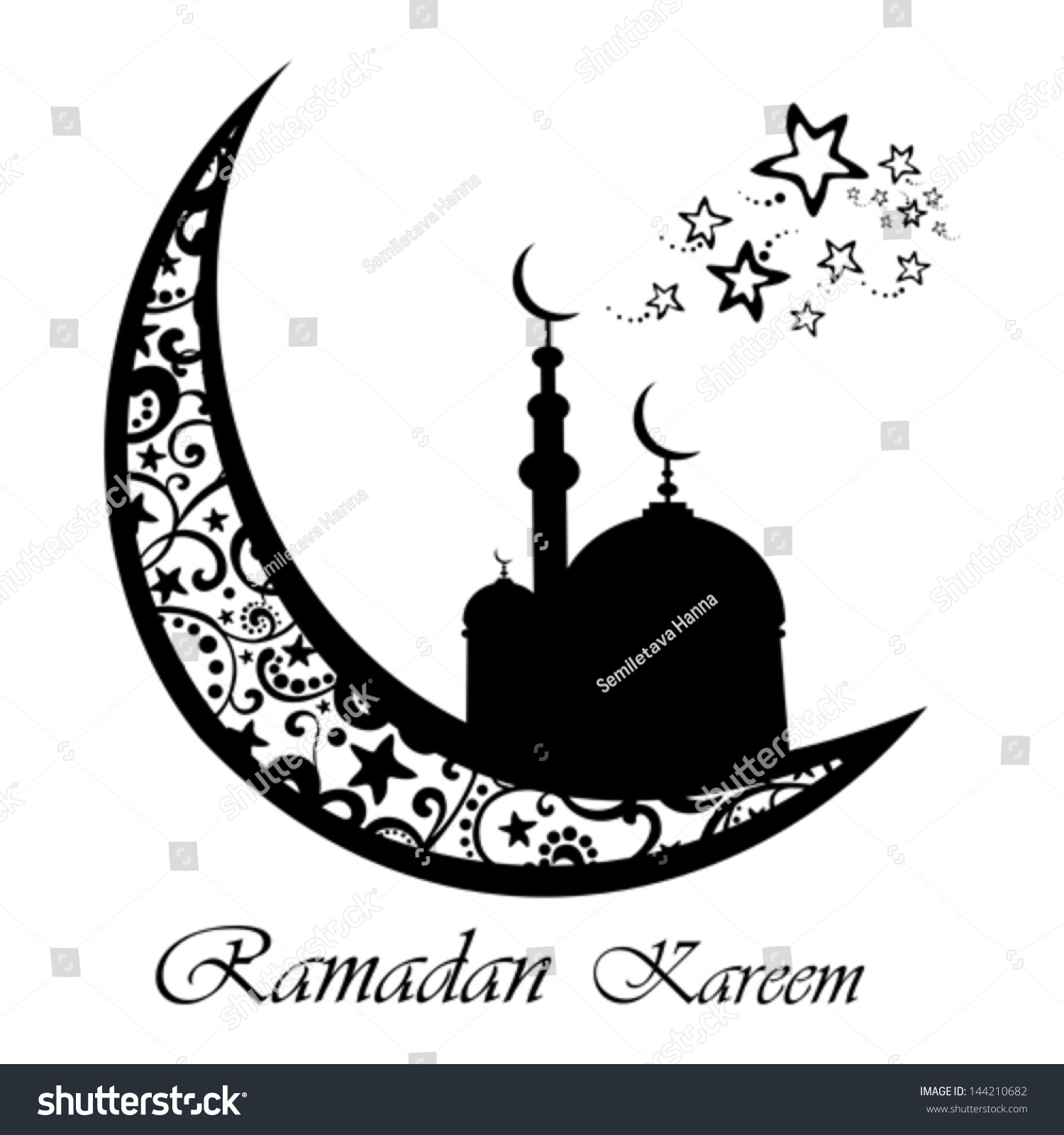 ramadan symbol white background