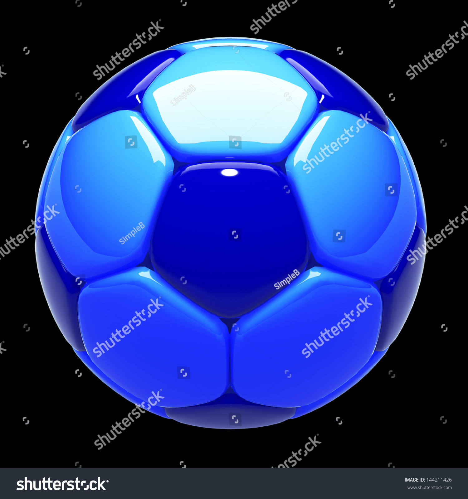 3 D Football Soccer Ball Standard Pattern Stock Illustration
