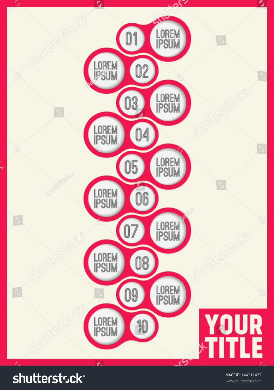 Vertical Timeline Infographic Template Stock Vector