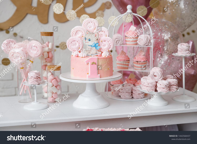 Cool Beautiful Birthday Cake Pink Decor Birthday Stock Photo Edit Now Funny Birthday Cards Online Alyptdamsfinfo