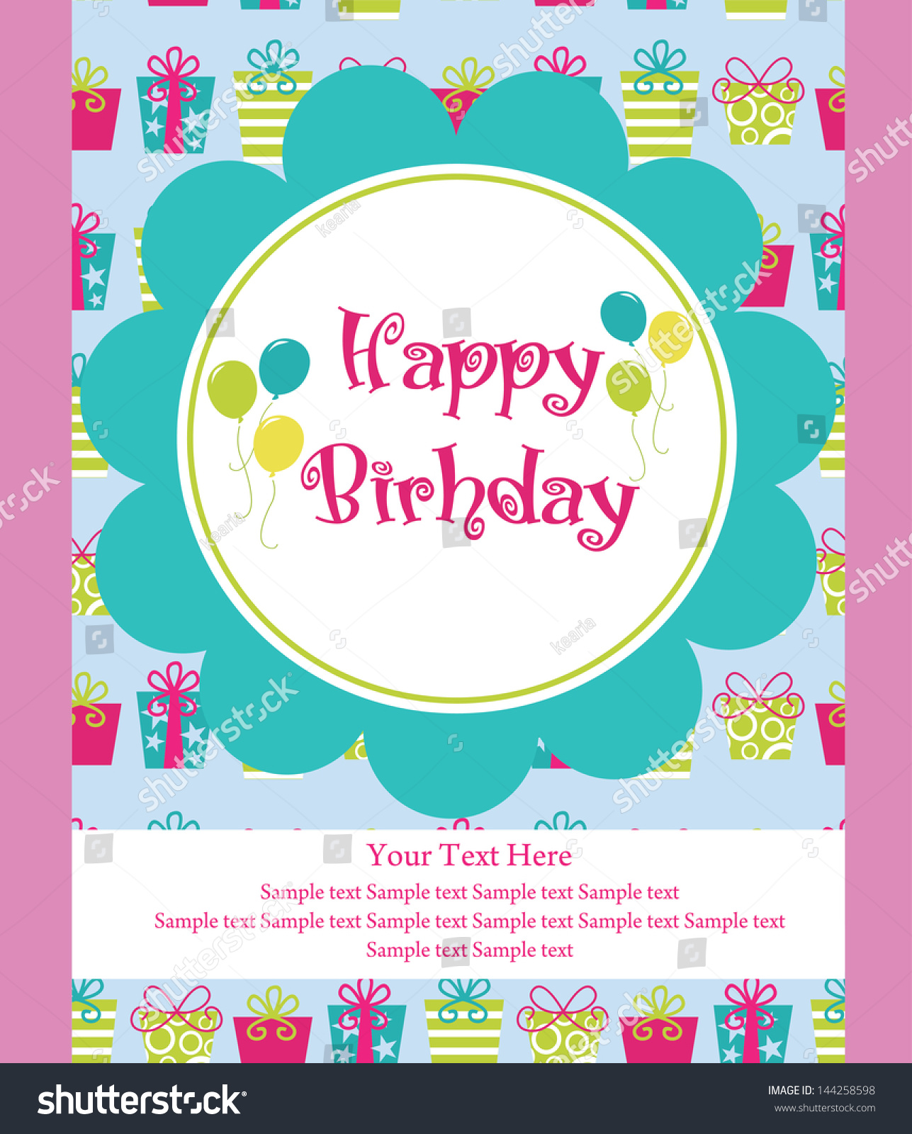 Happy Birthday Greeting Card Vector Illustration Vector – Birthday Greeting Sample