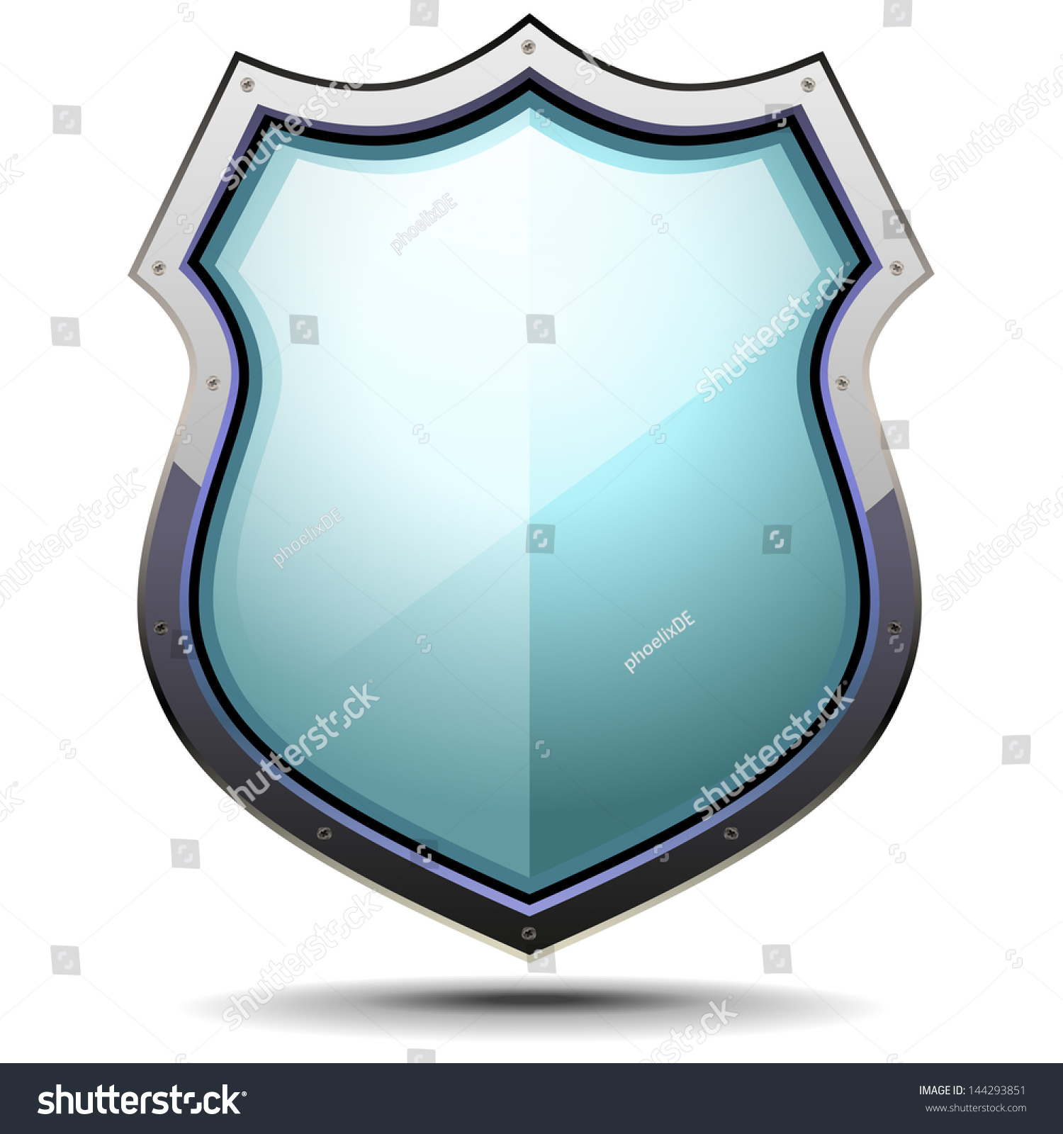 Detailed Illustration Coat Arms Symbol Security Stock Vector