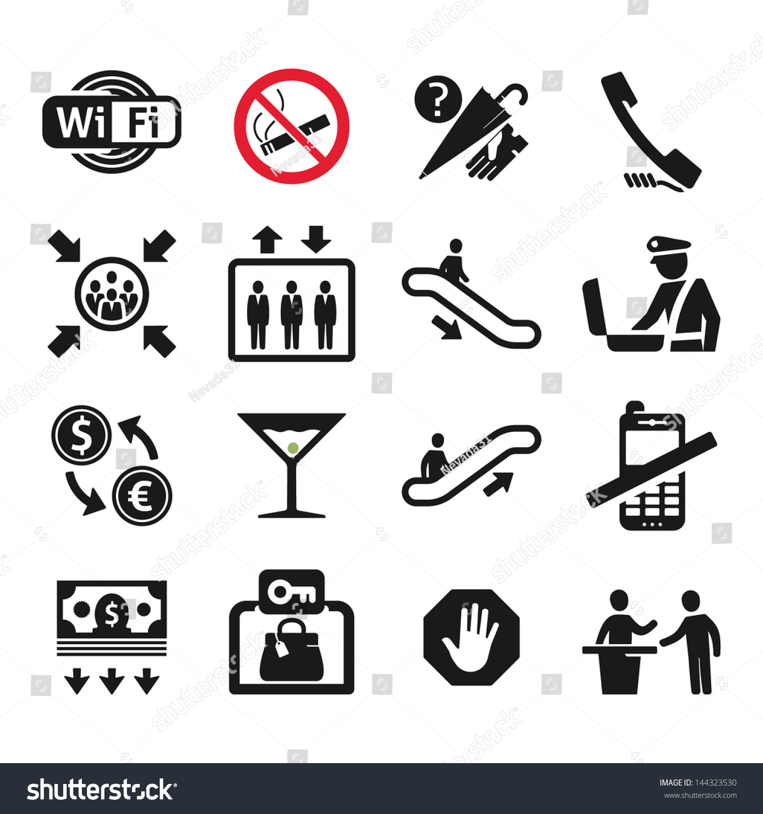 Public places information signs icons set stock vector 144323530 public places information signs icons set buycottarizona Image collections