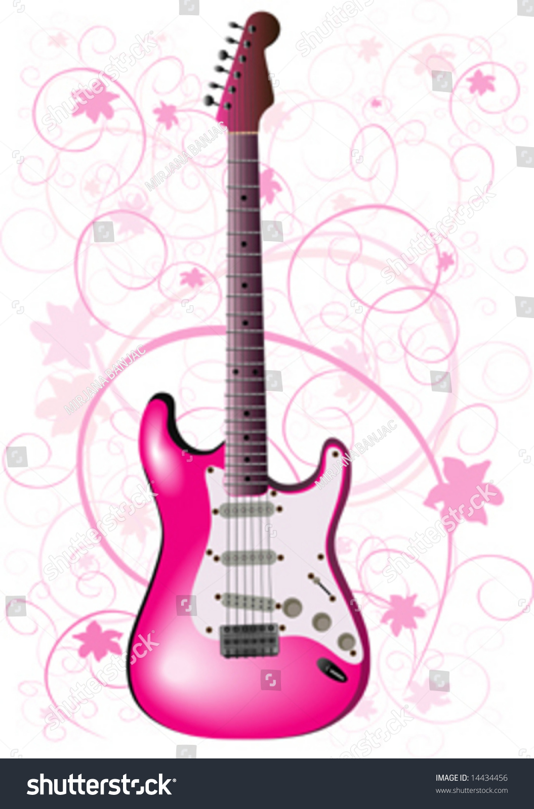 wallpaper music guitar pink - photo #16