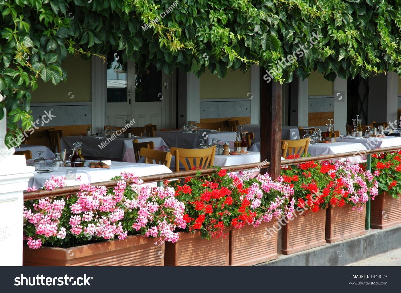 An Italian Patio Waiting For Customers